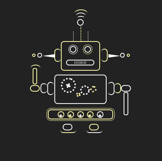 pure css cute robot