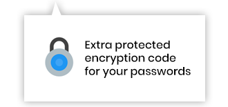 Extra protected encryption code for your passwords