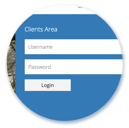 Support Clients Help Desk Panel - Login Area