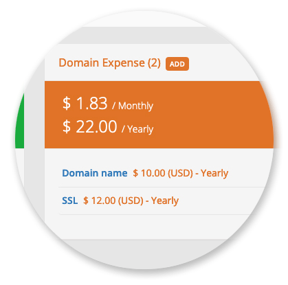 Domain Manager - Domain Expenses