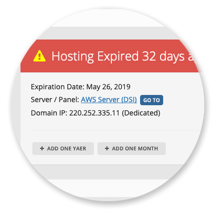Domain Manager - Expired Hosting's