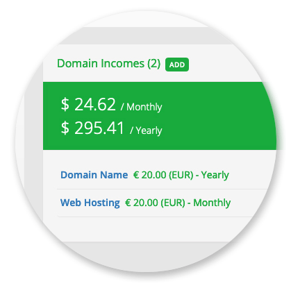 Domain Manager - Domain Incomes
