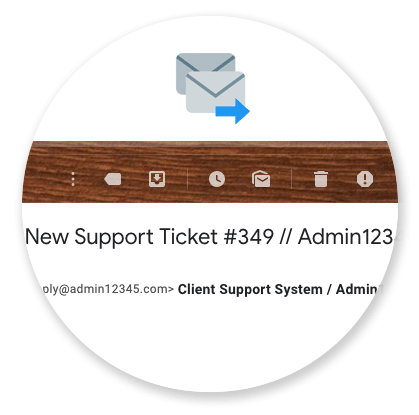 Support Clients Help Desk Panel - Email Alerts